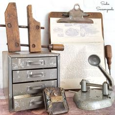 Thrift stores and antiques shops are full of relics from days gone by that are full of industrial charm. Collecting them is fun, but upcycling random pieces into industrial home decor might be even MORE fun! This collection of ideas will surely inspire you to add some industrial edge to your space. #industrial #industrialdecor #vintagechic #vintagehomedecor #industrialhomedecor #DIYindustrial #industrialstyle