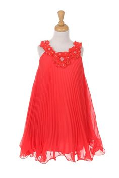 This cute sleeveless flower girl dress features a chiffon floral neckline with beaded accents and a ruffled wire hemline.Available in sizes SKU : Red Chiffon, Beaded Chiffon, Chiffon Dress, Girls Party Dress, Girls Dresses, Coral Flower Girl Dresses, Special Dresses, Junior Bridesmaid Dresses, Tulle Dress