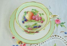 Royal Stafford signed R Band, Harvest cup and saucer