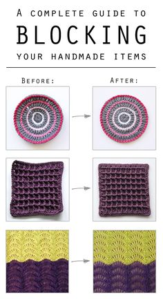 How to block your crocheted or knitted items | Haak Maar Raak