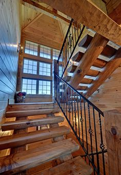 Turtletown, Tn. Custom Log Home Staircase