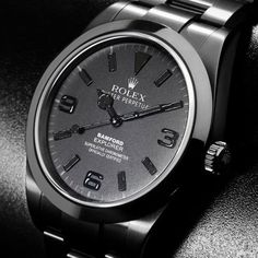 Looking for an all black watch... this is it. BAMFORD WATCH DEPARTMENT – Rolex Explorer Watch All Black Edition