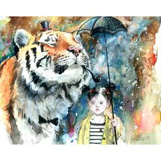 Mr.Tiger by Lora Zombie - I loveee tiger anything