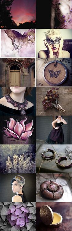 Autumn butterflies by Agnieszka on Etsy--Pinned with TreasuryPin.com