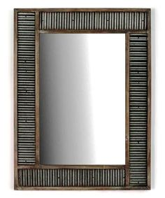 Look what I found on #zulily! Corrugated Metal Mirror #zulilyfinds