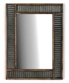 Look what I found on #zulily! Corrugated Metal Mirror #zulilyfinds