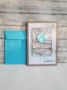 Weiteres - GUTE REISE Karte  - Weltkugel - ein Designerstück von POMMPLA bei DaWanda
