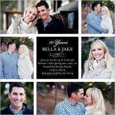Married Memories Wedding Anniversary Invitation