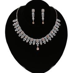 Wedding Jewellery Designs, Wedding Designs, Wedding Jewelry, American Diamond Jewellery, Diamond Jewelry, Jewelry Art, Jewelry Design, Indian Jewelry Sets, Quality Diamonds