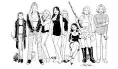 My favorite women. Terry Moore's creations and art