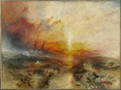 The Slave Ship by JMW Turner, 1840. The painting that inspired my short-lived painting career