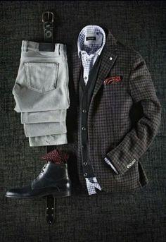 Casual Fall Looks Sharp Dressed Man, Well Dressed Men, Mode Masculine, Stylish Men, Men Casual, Casual Styles, Casual Fall, Smart Casual, Mens Fashion Blog