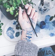 ♥ #flower #artist #grunge #refreshingindie #theme #indie #art #painting #plants #blueaesthetic #hands #photography #blueaesth #paint #wallpaper #draw #drawing #blue #love #colors #L4L #random #instafollow
