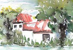 aquarell Haus am See - Google-Suche