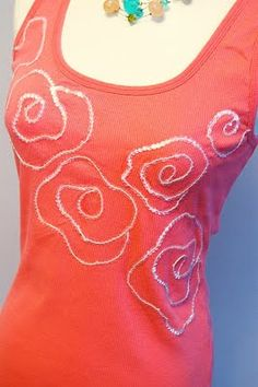 embellishing on tank top no sew