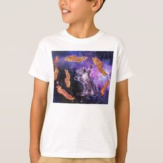 Cat Frying Bacon With Eye Laser T-Shirt - click/tap to personalize and buy Purple Cat, Blue Cats, Cat Laser, Space Cat, Decorating Blogs, Kittens Cutest, Shirt Style, Fitness Models, Shirt Designs