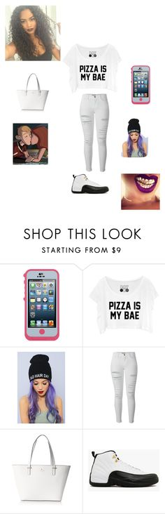 """""""Pizza is bae"""" by swaggmaster1994 ❤ liked on Polyvore featuring OtterBox, Frame Denim and Kate Spade"""