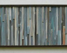 ModernWood Sculpture Wood  Wall ArtReclaimed Painting