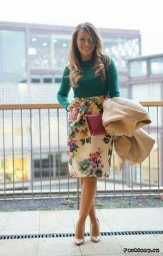 Loock com saia floral