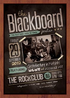 Blackboard Poster by Roberto Perrino