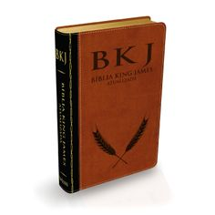 Bíblia King James Atualizada - Preta e Marrom - Livraria Evangélica Tenda Gospel