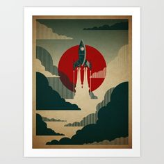 The Voyage Art Print by The Art Of Danny Haas. Worldwide shipping available at Society6.com. Just one of millions of high quality products available.