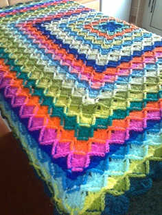 Crocheted Wool-Eater Blanket