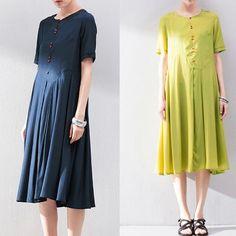 Women Linen Handmade sun dress Petite dress Maternity by Roniaz