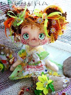 Текстильная кукла-оберег  домовушка -желанница Подсолнушек