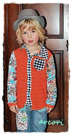 arcori: Hemd JOEY, pattern by farbenmix.de, sewing for boys, Nähen für Jungs