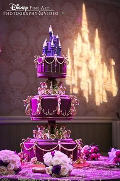 Pretty purple Disney cake!