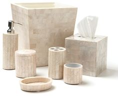 Mother of Pearl Lacquer Bathroom Accessories Set