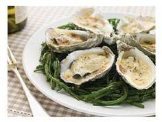 oysters au gratin....