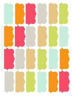 Print on card stock - FREE printable recipe binder tags Printable Tabs, Printable Planner, Planner Stickers, Free Printables, Printable Recipe, Life Planner, Happy Planner, Planner Diy, Cool Ideas