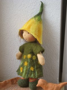 RESERVED Waldorf doll Pixy from the forest 9 by stoffpuppeorg