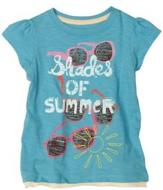Hatley Girls 2-6x Shades Of Summer Graphic Tee,Blue,2 coupon  Games Information
