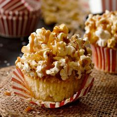 Brown Butter Salted Caramel Popcorn Cupcakes - Cupcake Daily Blog - Best Cupcake Recipes .. one happy bite at a time!