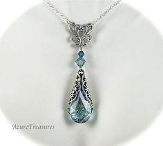 Ocean Blue Necklace, AzureTreasures Etsy
