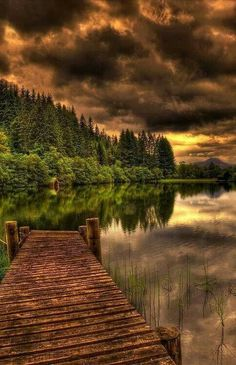 Ancient dock. Loch Ard, Scotland