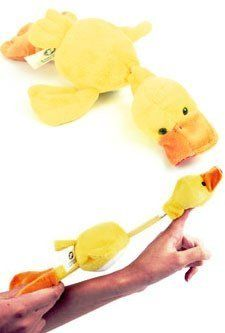 Slingshot Duck by Mills Brand. $9.99. This ducks gone quackers! Watch this crazy duck fly without a license all over the place, while making quite a racket! This duck is a slingshot that quacks as it flie sthrough the air. Perfect for any duck lover...or hater!