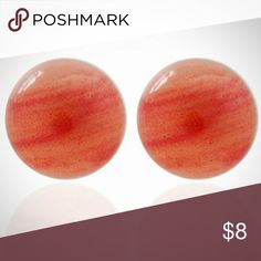 3 for $15 Agate Style Stud Earrings Beautiful red agate style fashion earrings. Dime sized.  Check out my closet for more great deals, will consider all reasonable offers! Jewelry Earrings