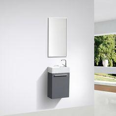 Mueble lavamanos + lavabo 40cm PREMONTADO Lacado Gris SIENA - Entorno Baño