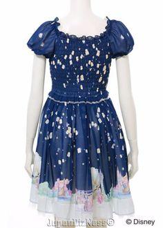 New-Secret-Honey-Disney-Rapunzel-from-Tangled-Dark-Blue-Chiffon-Lantern-Dress