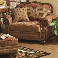 Pine Lodge Chair And A Half Log Cabin Furniture Rustic Decor