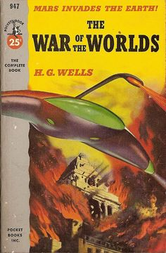 """""""The War of the Worlds"""" (1898) by H.G. Wells. Unlike the modern film adaptations, the original book is set in the time of horses and carriages... and will still scare the living daylights out of you. H.G. Wells was truly ahead of his time."""