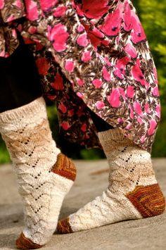 Hand Knit Socks by RainingGrey on Etsy, $70.00