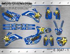 Yamaha YZf 250-450 '06-'09 - Moto-StyleMX - graphics decals kits Rockstar Energy Drinks, Metal Mulisha, Yamaha Yzf, Custom Design, Decals, Graphics, Tags, Graphic Design, Sticker