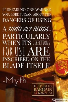 Quote from the book The Prince's Bargain by K.M. Shea | The Elves of Lessa series | Epic Fantasy Romance