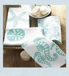 love these beach house guest towels