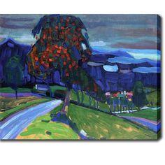 YGC Wassily Kandinsky 'Autumn in Murnau' Oil on Canvas Art